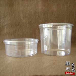 250ml/350ml/500ml pet材质一次性透明塑料圆形食物盒