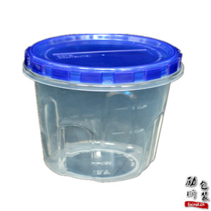 pp材质(可微波炉加热)透明一次性塑料圆形食物盒子