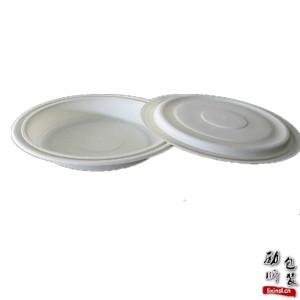 pp材质(可微波炉加热)一次性塑料白色/黑色带盖食物圆形盒子