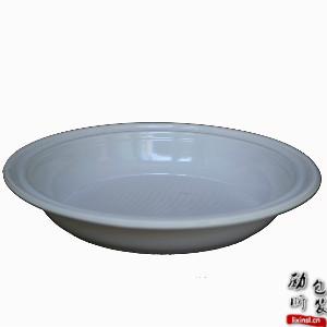 ps材质一次性白色圆形塑料食物托盘