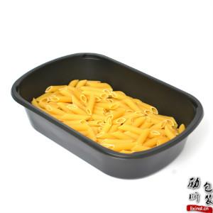 1500ml pp材质一次性长方形黑色塑料食物盒子